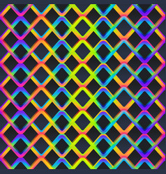 neon color grid seamless pattern vector image