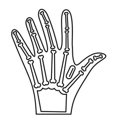 Nfc hand implant icon outline style vector