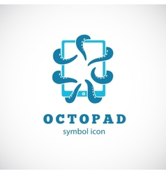Octopus Pad Concept Symbol Icon or Logo Template vector image
