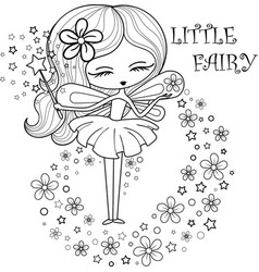 outlined a little fairy vector image