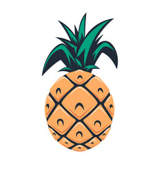 pineapple design element for logo emblem sign vector image