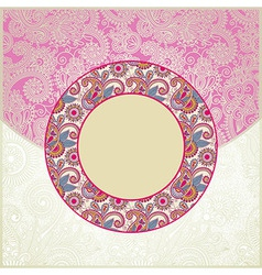 Pink ornamental cirkle floral pattern vector