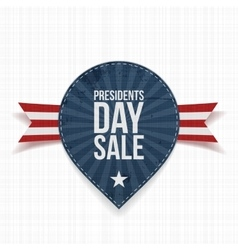 Presidents day sale label and ribbon vector