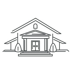 private house or mansion real estate isolated vector image