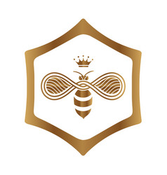 queen bee logo design on white background vector image