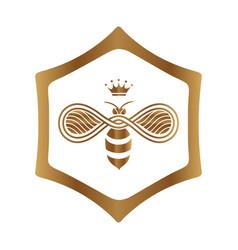 Queen bee logo design on white background vector