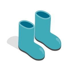 Rubber boots icon isometric 3d style vector image