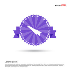 saw icon - purple ribbon banner vector image