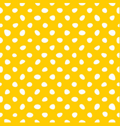 seamless pattern with white hand drawn polka dots vector image