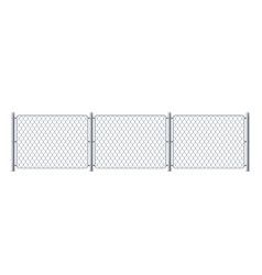 security metal fence or police steel chain link vector image
