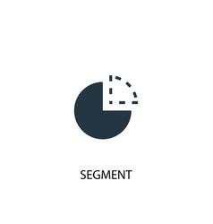 segment icon simple element vector image