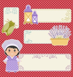 Set of banner in the style of Provence vector