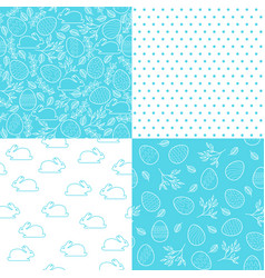 set of seamless easter patterns for festive design vector image