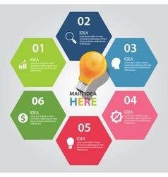 Six 6 elements idea info graphic chart vector