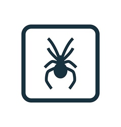 Spider icon Rounded squares button vector