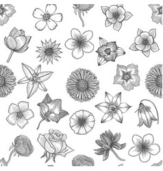 Spring flowers seamless vector