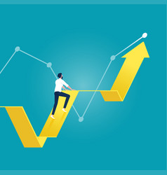 stock market growth concept vector image