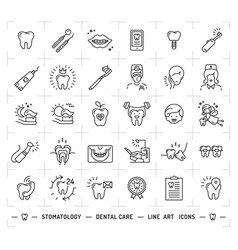 Stomatology icon dental care logo dentistry thin vector