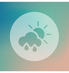 Sun rain cloud transparent icon weather vector