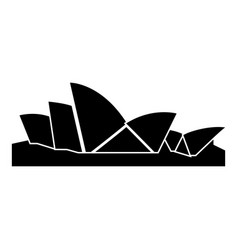 sydney opera house icon black color flat style vector image
