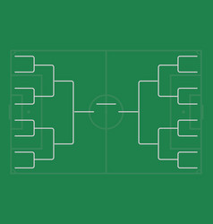 Tournament bracket championship template vector