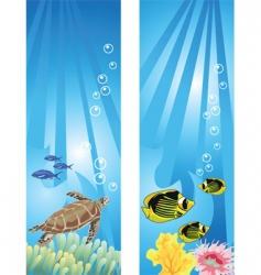 underwater fish vector image