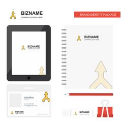 up arrow business logo tab app diary pvc employee vector image