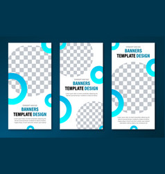 vertical web banner templates with round elements vector image