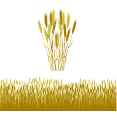 Wheat silhouette background vector