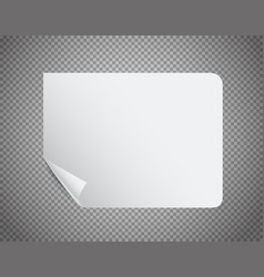 White paper sheet on transparent background vector