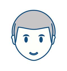 Young man face cartoon vector