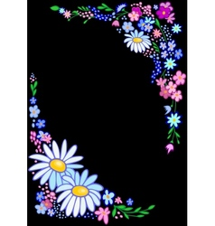 Abstract flowers frame vector image vector image