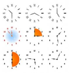 set hours vector image vector image