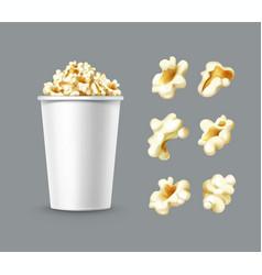 set of popcorn vector image vector image