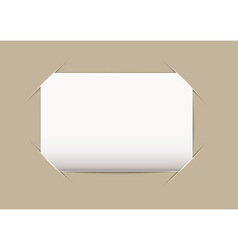 business card blank vector image
