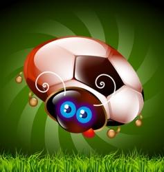 ladybug football fan vector image