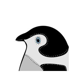 penguin cute animal head funny cartoo vector image