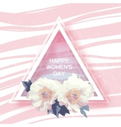 Showy Bouquet White Peony Flowers Greeting card vector image vector image