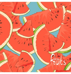 Watermelon slices seamless vector