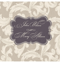 wedding stylish card template vector image