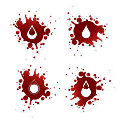 blood splashes with white drops vector image vector image