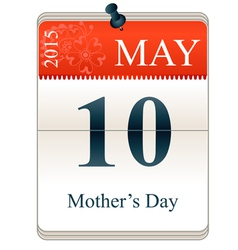 Calendar of mothers day 2015 vector image