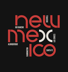 new mexico state t-shirt and apparel vector image vector image