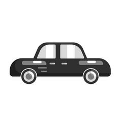 black car side view flat vector image vector image
