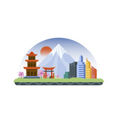 japan icon in flat style vector image vector image
