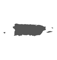 Puerto rico map black icon on white background vector