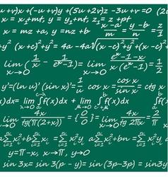 seamless with mathematics symbols vector image