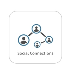 Social Connections Icon Flat Design vector image