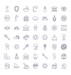 49 light icons vector