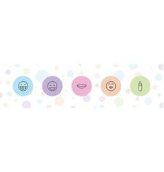 5 kiss icons vector